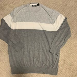 Claiborne Sweaters - Men's 2XLT Gray and white sweater